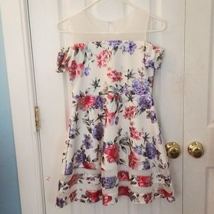 Girls cold shoulder dress